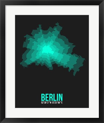 Framed Berlin Radiant Map 3 Print