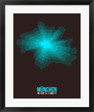 Framed Munchen Radiant Map 1 Print
