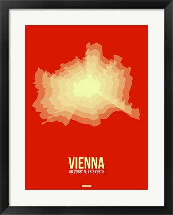 Framed Vienna Radiant Map 1 Print