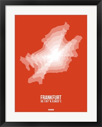 Framed Frankfurt Radiant Map 3 Print
