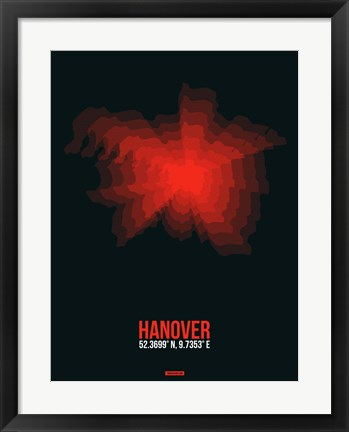 Framed Hanover Radiant Map 4 Print