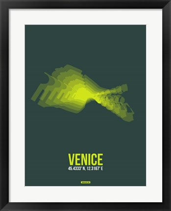 Framed Venice Radiant Map 1 Print