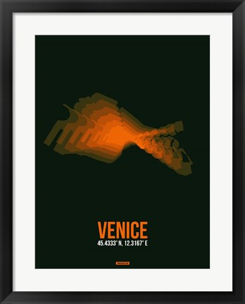 Framed Venice Radiant Map 2 Print