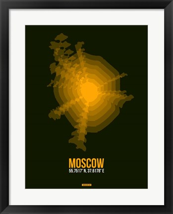 Framed Moscow Radiant Map 2 Print