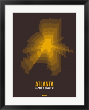 Framed Atlanta Radiant Map 4 Print
