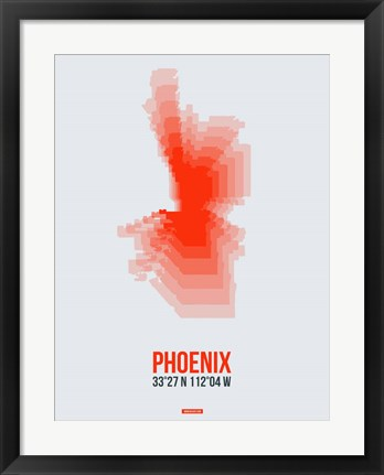 Framed Phoenix Radiant Map 4 Print