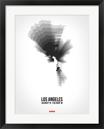 Framed Los Angeles Radiant Map 8 Print