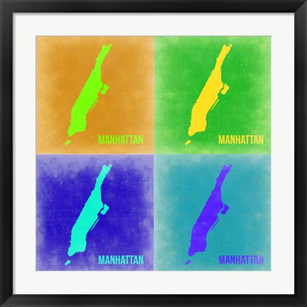 Framed New York Pop Art Map 2 Print