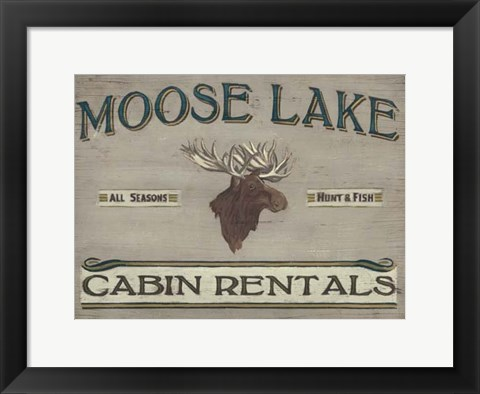Framed Lodge Sign IV Print