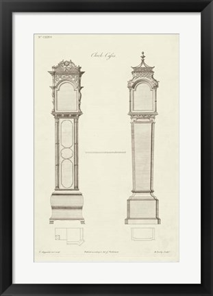Framed Chippendale Clock Cases II Print