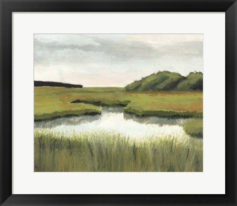 Framed Marsh Landscapes II Print