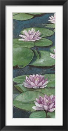 Framed Tranquil Lilies I Print