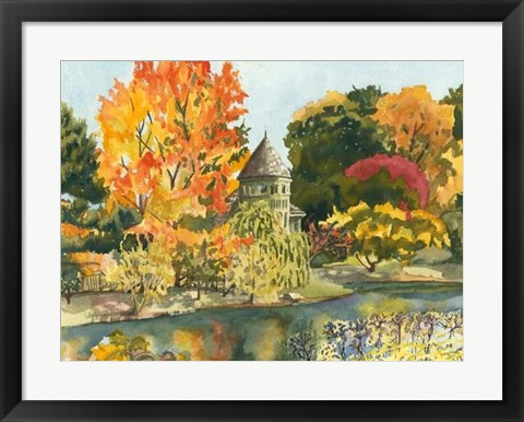 Framed Plein Air Garden II Print