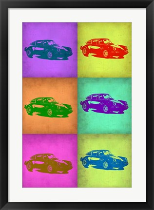 Framed Porsche Pop Art 2 Print