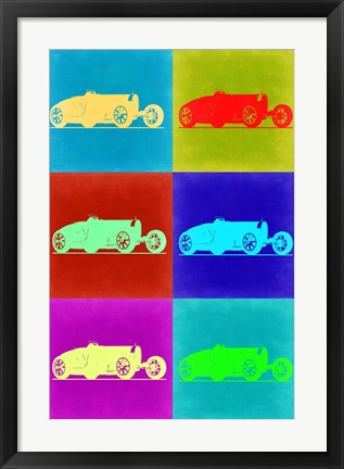 Framed Bugatti Pop Art 2 Print