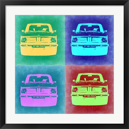 Framed BMW 2002 Pop Art 1 Print