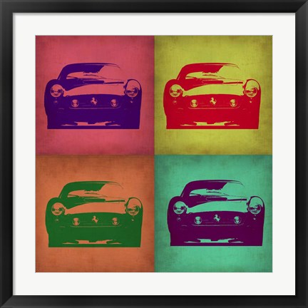 Framed Ferrari Pop Art 1 Print