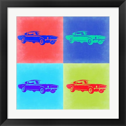Framed Ford Mustang Pop Art 2 Print