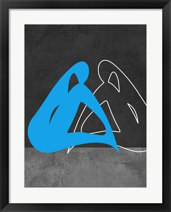 Framed Blue Woman Print