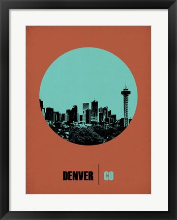 Framed Denver Circle 1 Print