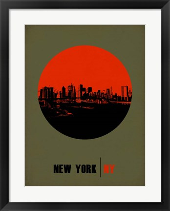 Framed New York Circle 3 Print