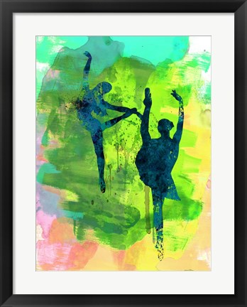 Framed Ballet Watercolor 1B Print