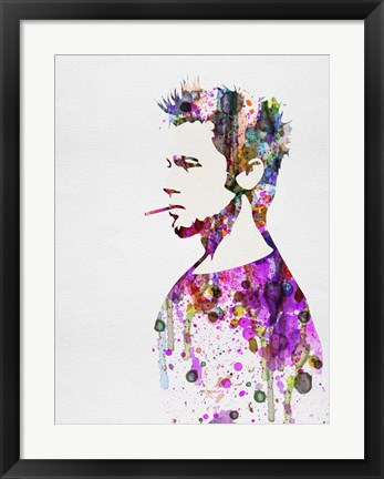 Framed Fight Club Watercolor Print