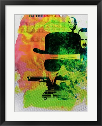 Framed Heisenberg Watercolor Print