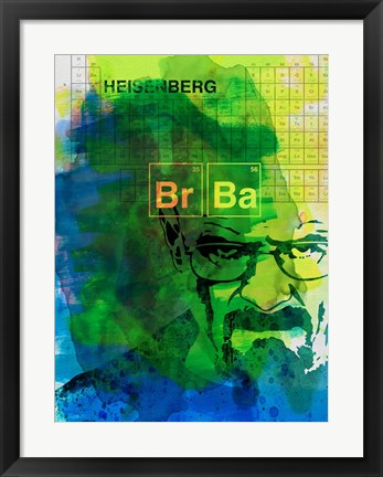Framed Walter White Watercolor 2 Print