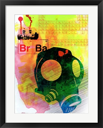 Framed Br Ba Watercolor 3 Print