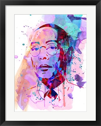 Framed Gustavo Watercolor Print