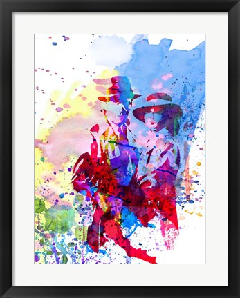Framed Casablanca Watercolor Print