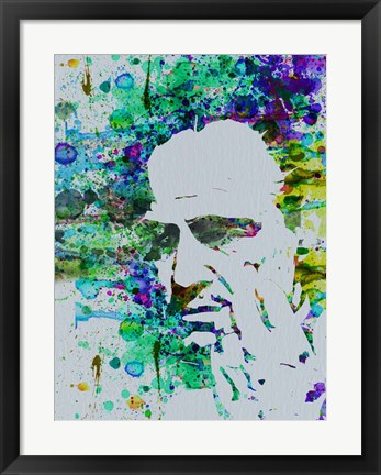 Framed Godfather Watercolor Print