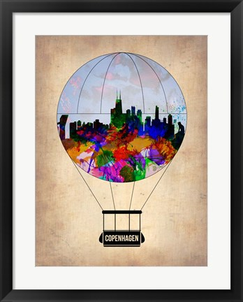 Framed Copenhagen Air Balloon Print