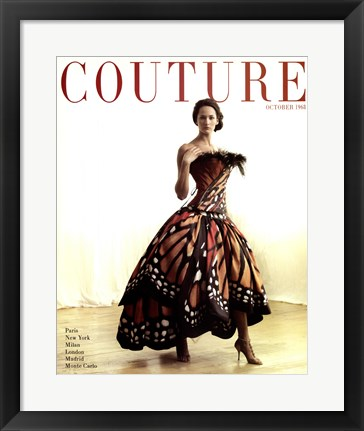 Framed Couture Oct 1968 Print