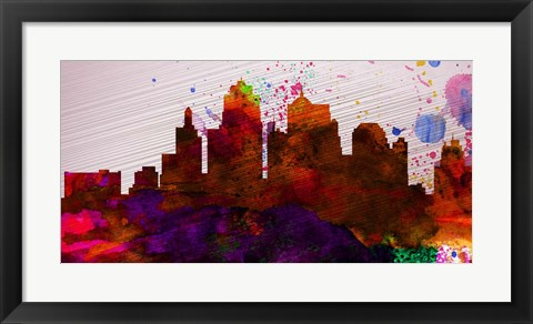 Framed Kansas City Skyline Print