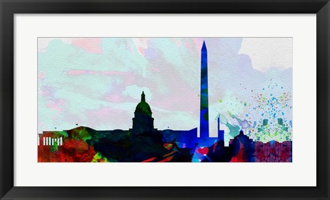 Framed Washington DC City Skyline 2 Print