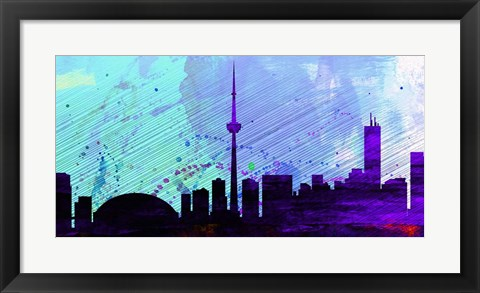 Framed Toronto City Skyline Print
