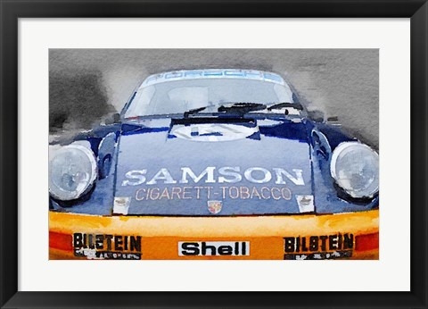 Framed Porsche 911 Front End Print