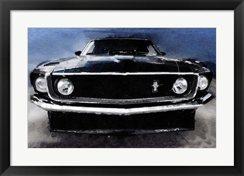 Framed 1968 Ford Mustang Shelby Front Print