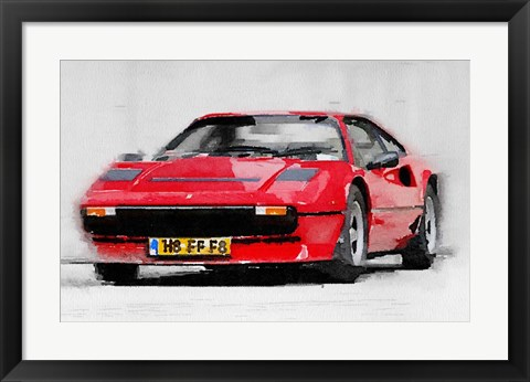 Framed Ferrari 208 GTB Turbo Print