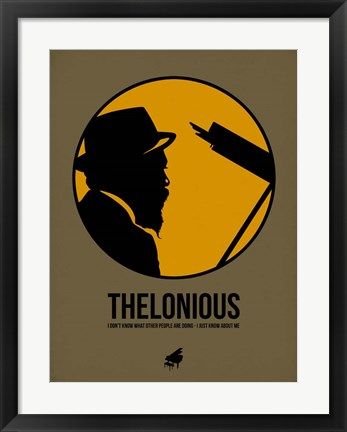 Framed Thelonious 2 Print