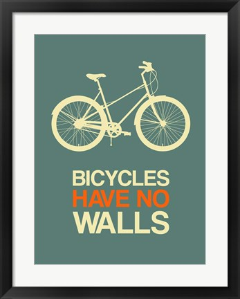 Framed Bicycles Have No Walls 3 Print
