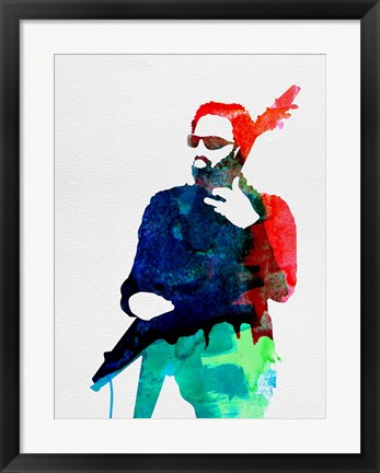 Framed Lenny Watercolor Print