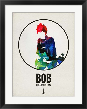 Framed Bob Watercolor Print