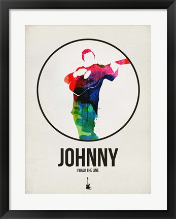 Framed Johnny Watercolor Print
