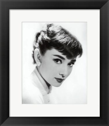 Framed Audrey Hepburn - Screen Test, c.1955 Print