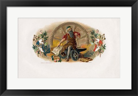 Framed Vintage Cigar Label VI Print