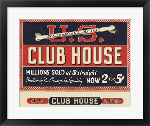 Framed Club House Print