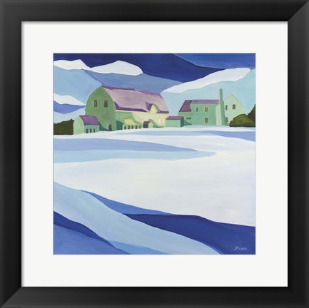 Framed Granite Farm Winter Print